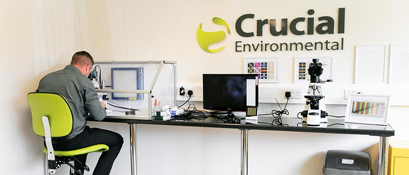 Crucial Environmental - Analysing materials for asbestos
