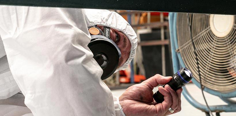 Asbestos survey in progress