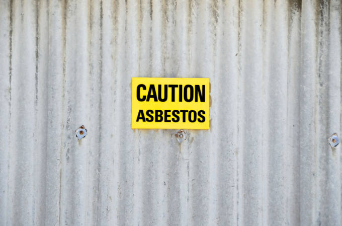 Caution - Asbestos Sign