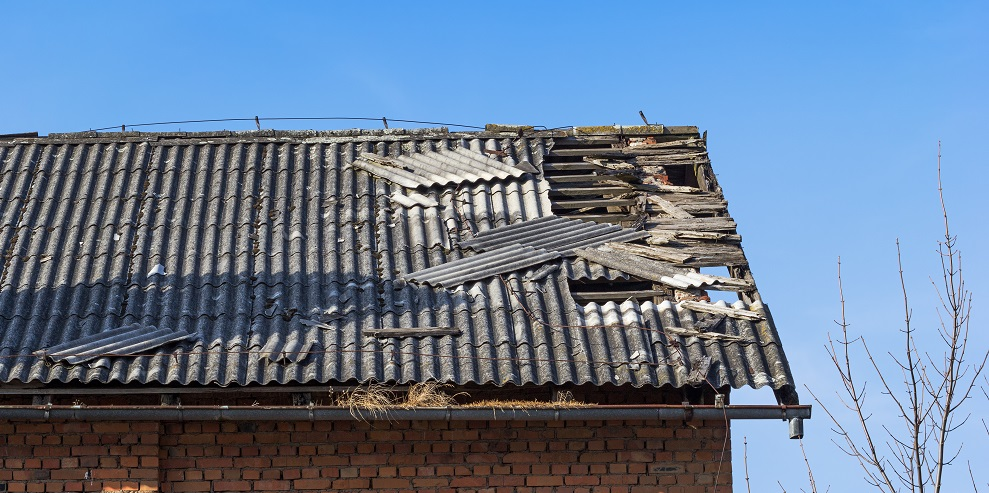 Damaged roof Tiles
