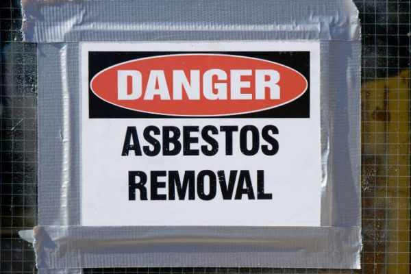Danger Sign Asbestos Removal