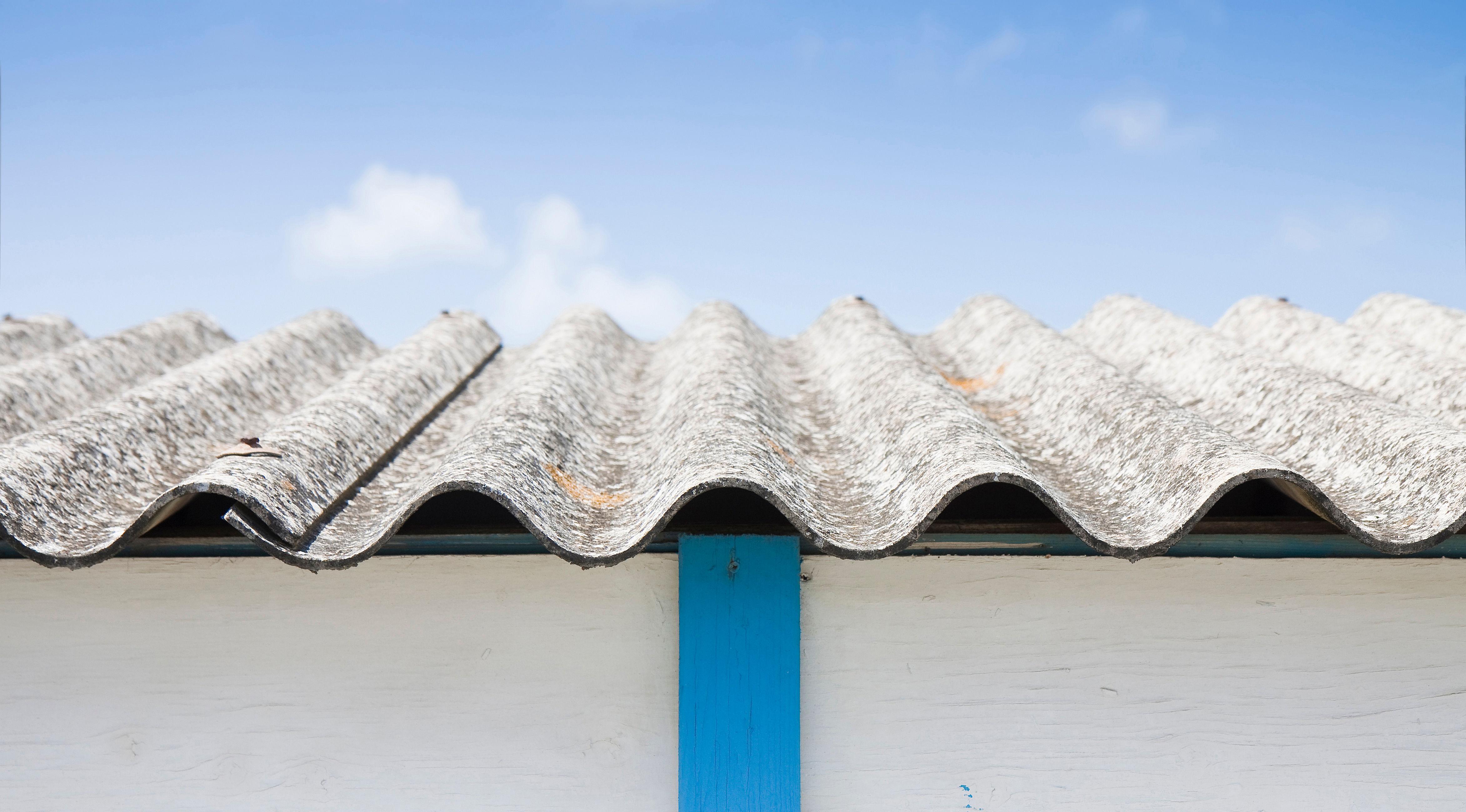 Asbestos on garage roof